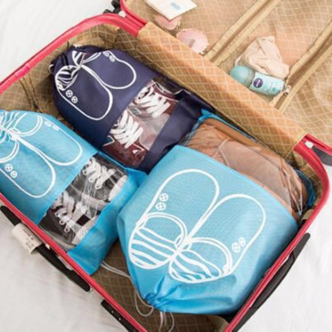全新鞋子收納袋 束口袋 居家旅行衣物整理