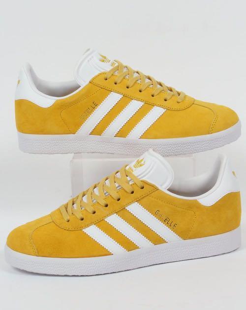 Adidas Gazelle Trainers Yellow/White, Men's Fashion, Footwear ...