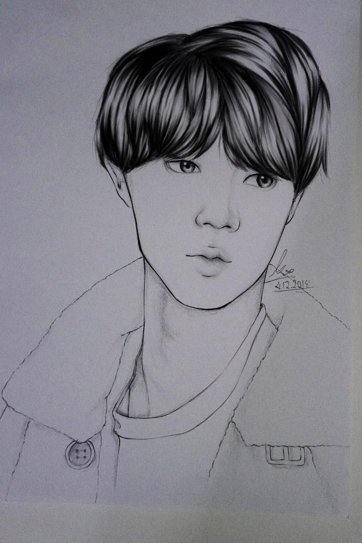 [BTS / ANIME] Trandisional & black and white art Commission