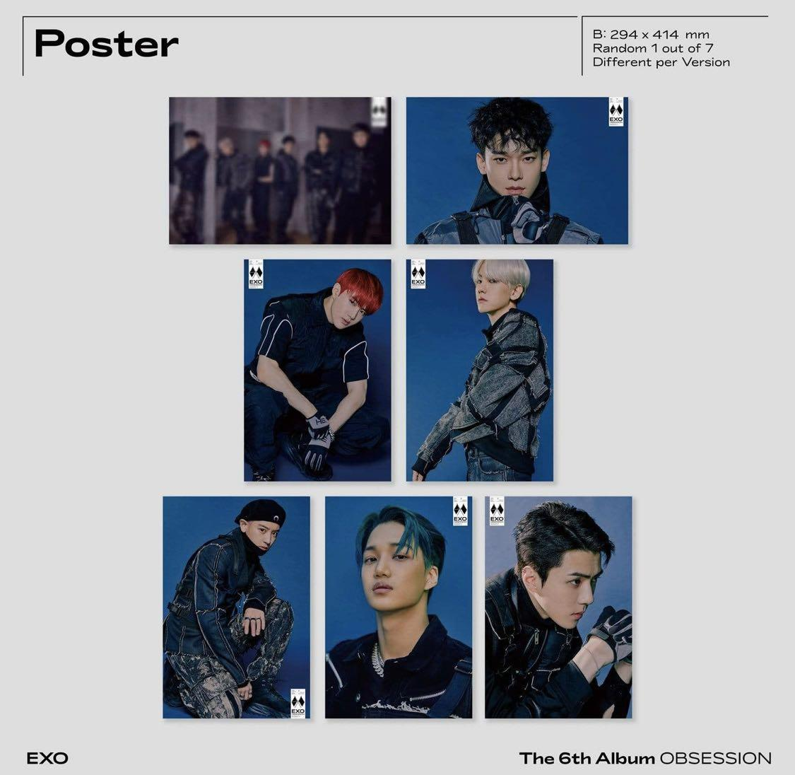 EXO -OBSESSION (OBSESSION VER) KPOP SEALED CD +PHOTO BK +CARD +POSTER +FREE AUSTRALIA WIDE STANDARD PARCEL WITH TRACKING
