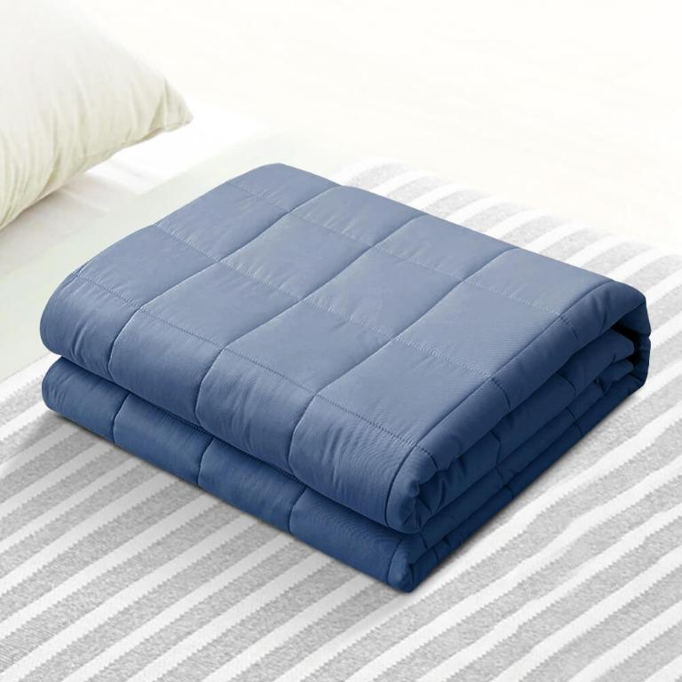 Giselle Cooling Weighted Blanket Kids 2.3KG Gravity Blankets Relax Summer Blue