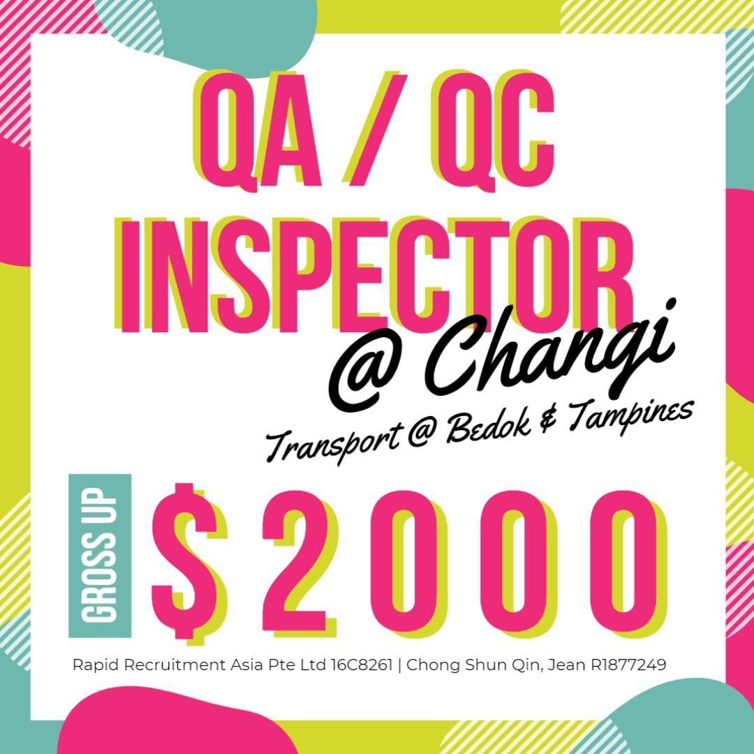 [Gross $2000] QA /QC /Quality Inspector @ East (Tpt Provd)
