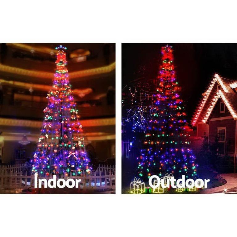 Jingle Jollys 3.6M LED Christmas Tree Inflatable Set Lights Xmas Fibre Optic Decor