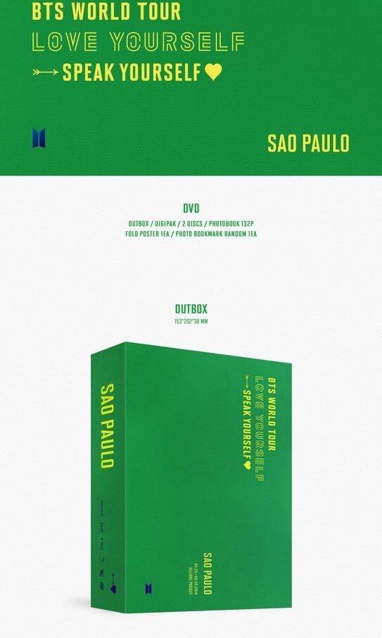 [LOOSE & FULL SET] Preorder BTS Speak Yourself in Sao Paulo concert DVD