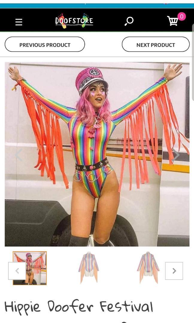 new colourful fringed sleeve bodysuit festivals doof