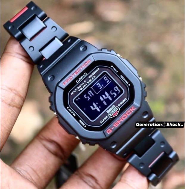 NEW🌟BLUETOOTH🌟GSHOCK DIVER UNISEX SPORTS WATCH : 100% ORIGINAL AUTHENTIC CASIO G-SHOCK : GW-B5600HR-1DR / GW-B5600HR-1 / GW-B5600-1 / DW-5600HR-1 (BLACK-RED)