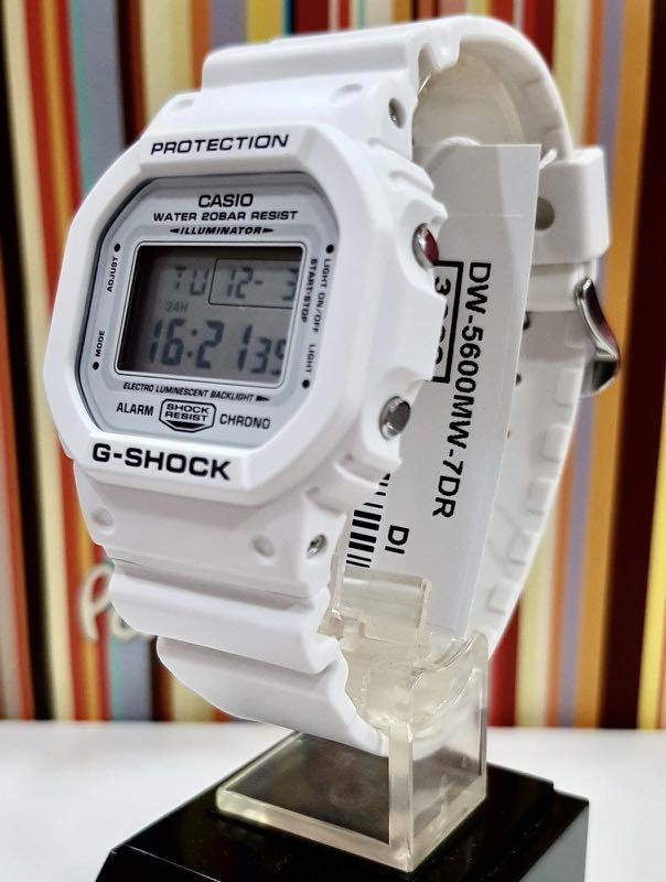 NEW🌟COUPLE💝SET : GSHOCK UNISEX DIVER SPORTS WATCH : 100% ORIGINAL AUTHENTIC CASIO G-SHOCK :  DW-5600MW-7DR + W-217HM-5AVDF / DW-5600MW-7 / DW-5600-7