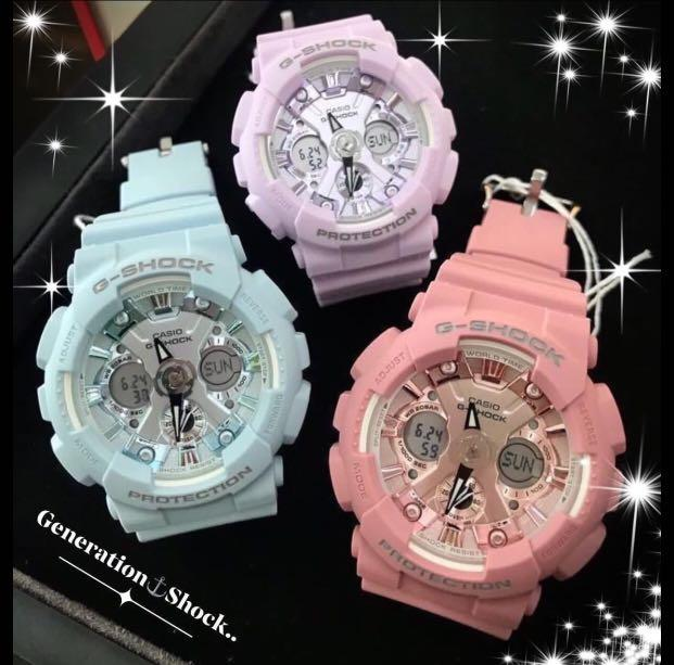 NEW🌟MINI GSHOCK DIVER UNISEX SPORTS WATCH : 100% ORIGINAL AUTHENTIC CASIO BABY-G-SHOCK : GMA-S120DP-6ADR / GMA-S120DP-6A : BABYG (9-COLOURS AVAILABLE)