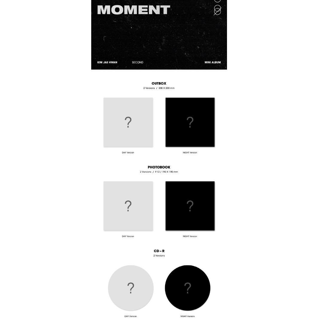 [PREORDER] KIM JAEHWAN 김재환 - MOMENT / 2ND MINI ALBUM