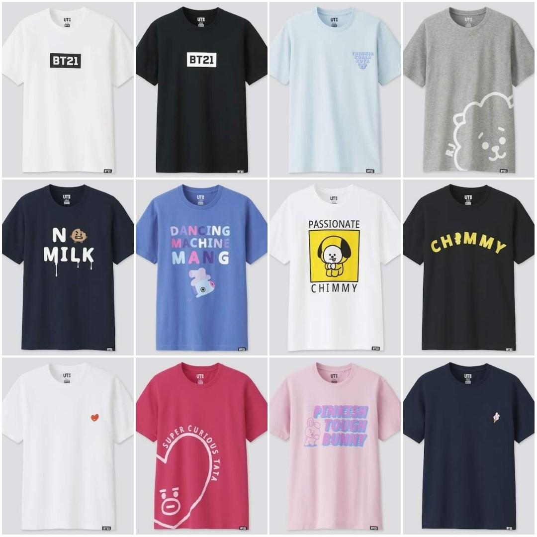 [PREORDER] Uniqlo Malaysia x BT21 UT Collection Shopping Service (8-14/12)