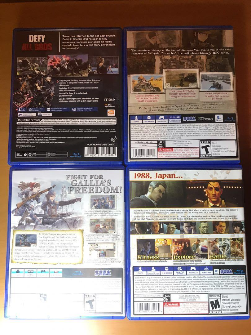 PS4 Game Sale - WTS, WTT