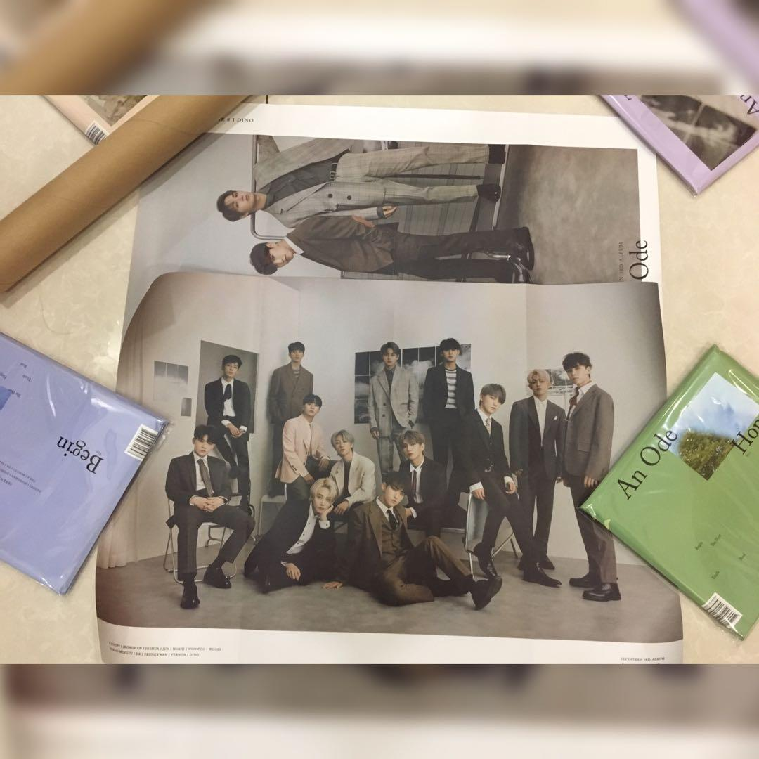 Seventeen an ode album folded group and performance team poster