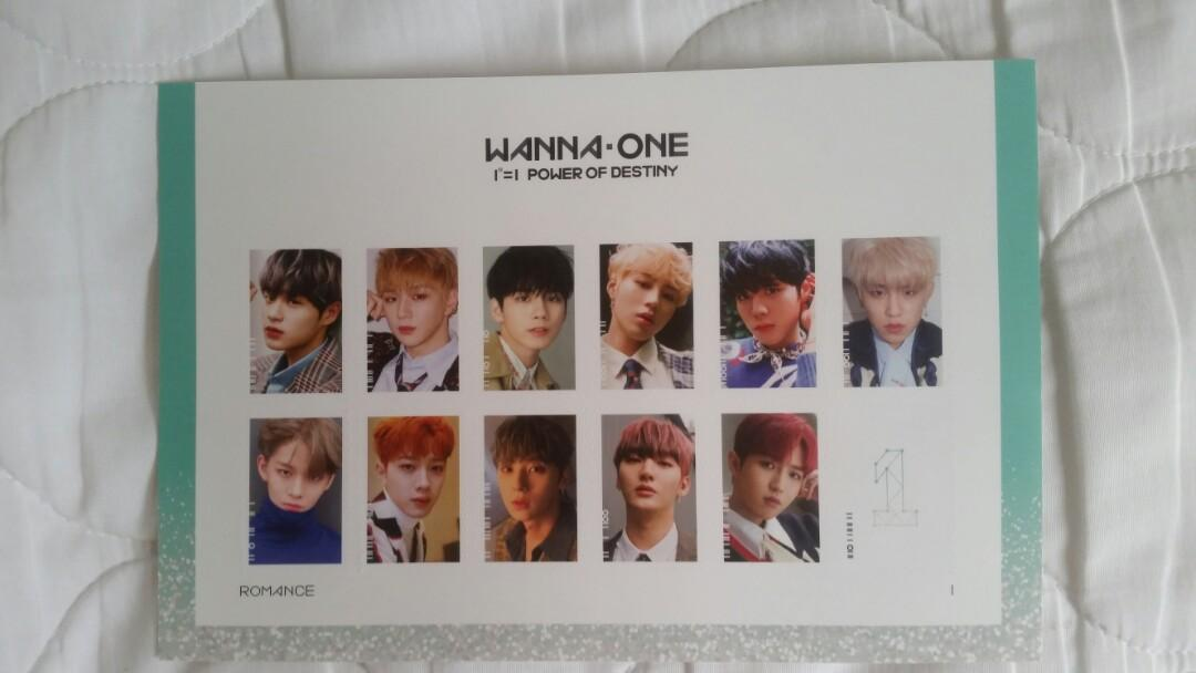 [wts] wanna one power of destiny official stickers (romance ver.)