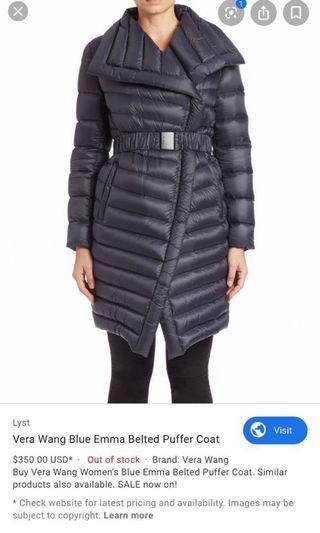 Vera wang puffer  jacket