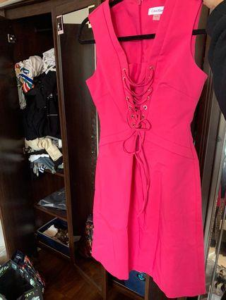 New Calvin Klein Pink Dress