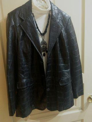 Sinequanone 法國專櫃 近新黑色皮衣外套