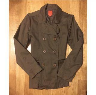 軍綠色雙排釦大衣#出清2019
