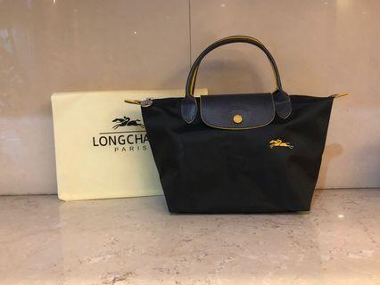 Longchamp 70週年S號槍灰色手提包