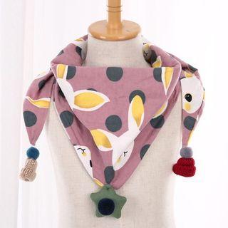 韓版可愛三角巾-兔子粉紫