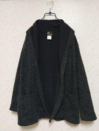BenPin 斑品 20%羊毛 開襟外套