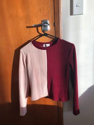Red pink sweater