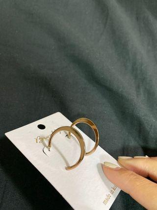 正韓貨玫瑰金耳環
