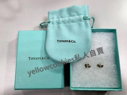 保證真品 【Tiffany & Co.】 小相思豆 925 純銀耳環 二手近全新!