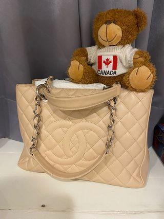 真品 Chanel 手提鏈包(淺杏色)