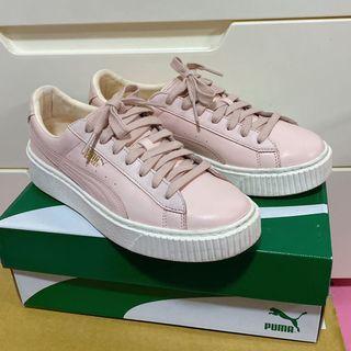 9成新 Puma Basket Platform L 粉色 24.5 (365821-02)