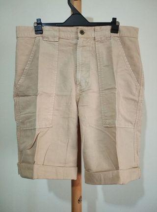 POLO Ralph Lauren 多口袋厚棉紳士西裝工作短褲工裝復古刷色米白卡其 nike