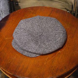 🇺🇸美國製New York hat Big Apple人字紋 鯡魚紋 羊毛報童帽 大蘋果 男女皆可Vintage