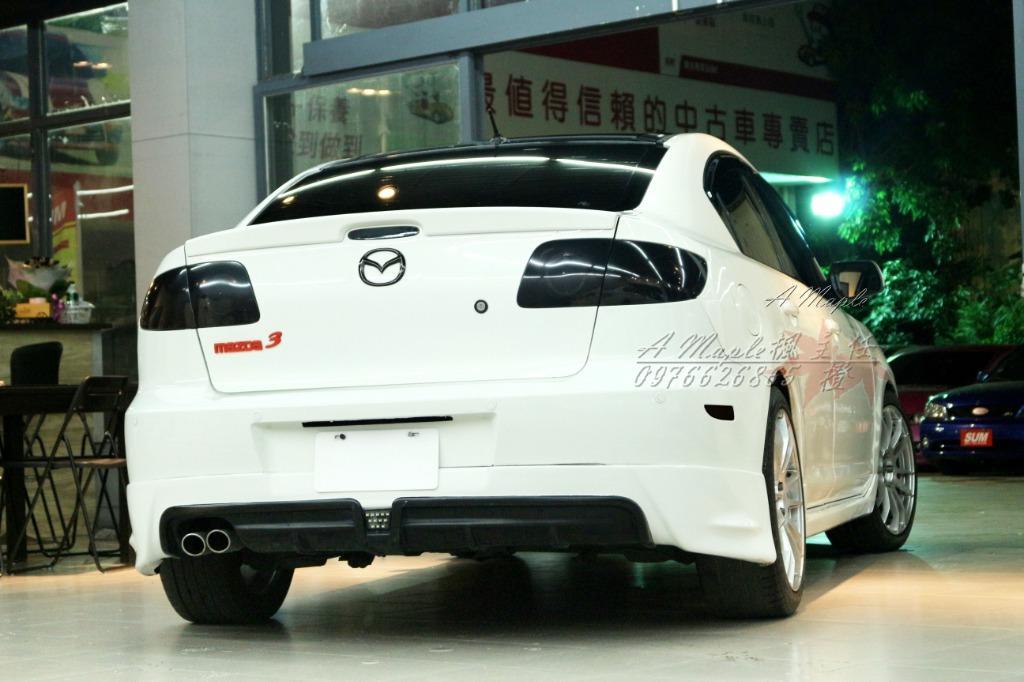 2006 Mazda3 2.0S 避震鋁圈基本改 RR後中包 前下巴/粉專→A Maple橙奕(非mazda6 K12 lancer focus