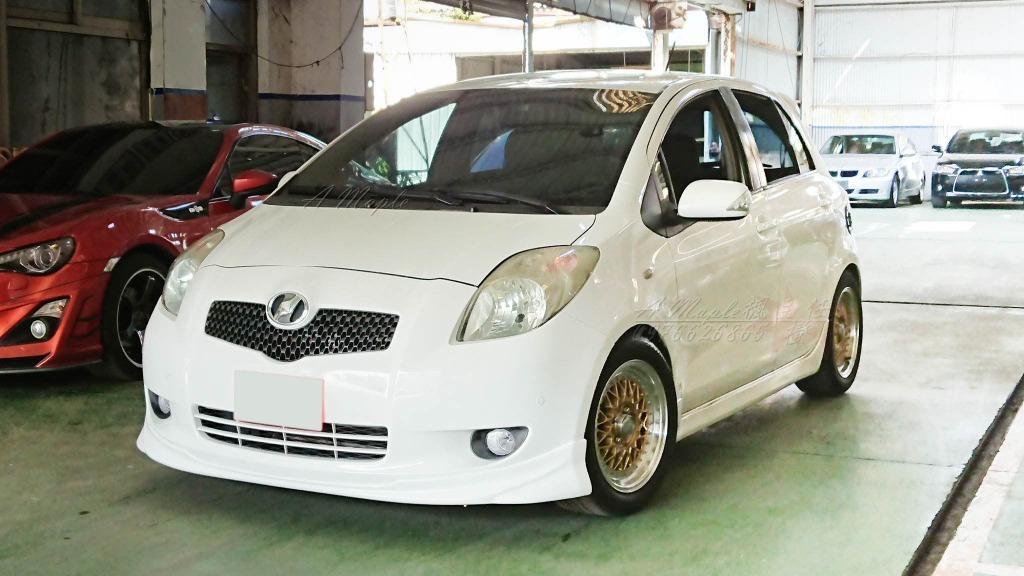 2008年 Toyota Yaris 1.5 白色 G版 海拉風式樣/大螢幕/粉專→A Maple橙奕(非Camry Altis civic mazda