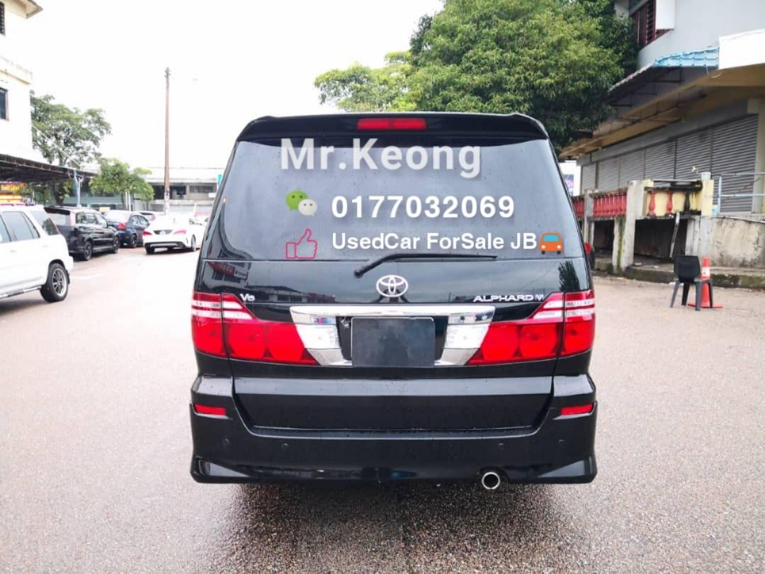 2008TH/Reg:2012🚘TOYOTA ALPHARD 3.0AT V6 Engine 3 P.DOOR 8 SEAT MPV Carking/Cash💰OfferPrice💲Rm56,500 Only⚠️LowestPrice InJB🎉Call 📲KeongForMore🤗