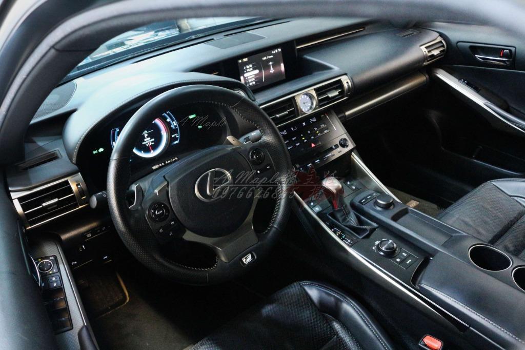 2013年 LEXUS IS300H F-SPORT 黑 油電混合 原廠18吋鋁圈/粉專→A Maple橙奕(非ES LS GS BMW BENZ AUDI
