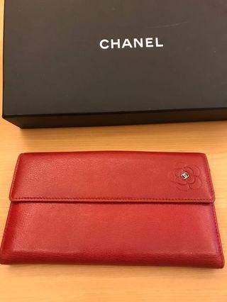 Chanel 大紅招財長夾