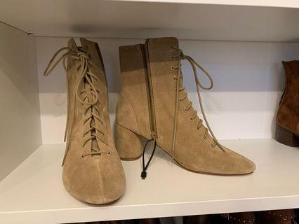 Zara Suede Boots New! Size 8