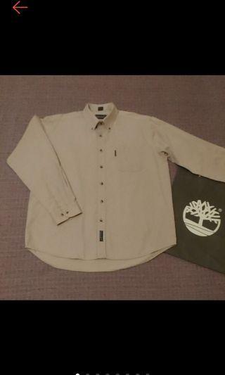 美國帶回 Timberland  WEATHETGEAR 經典Logo繡 型男必備 寬鬆 卡其 長袖襯衫