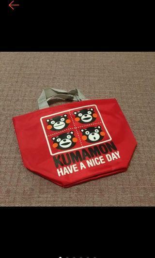 全新 超可愛 KUMAMOTO 熊本熊 手提袋 防水 酷Ma萌手提袋 便當袋 萬用袋