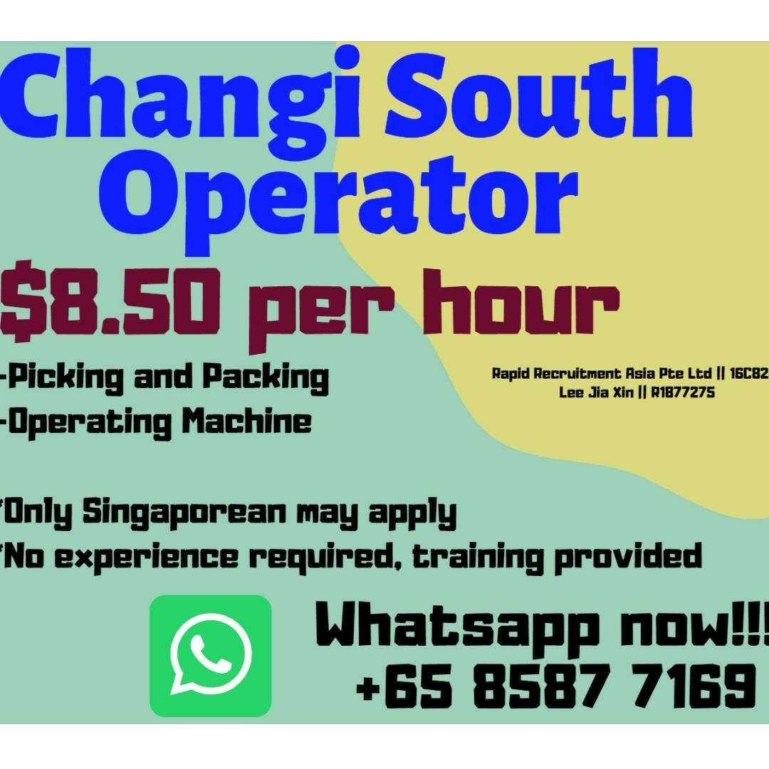 $8.50/hr - Operator / Warehouse Packer (Changi South) - JL