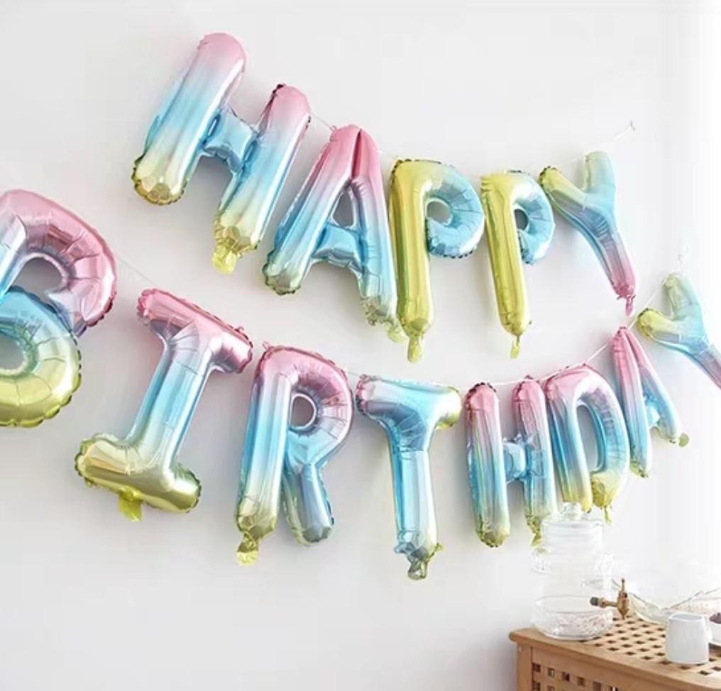 幻彩生日氣球 happy birthday balloon