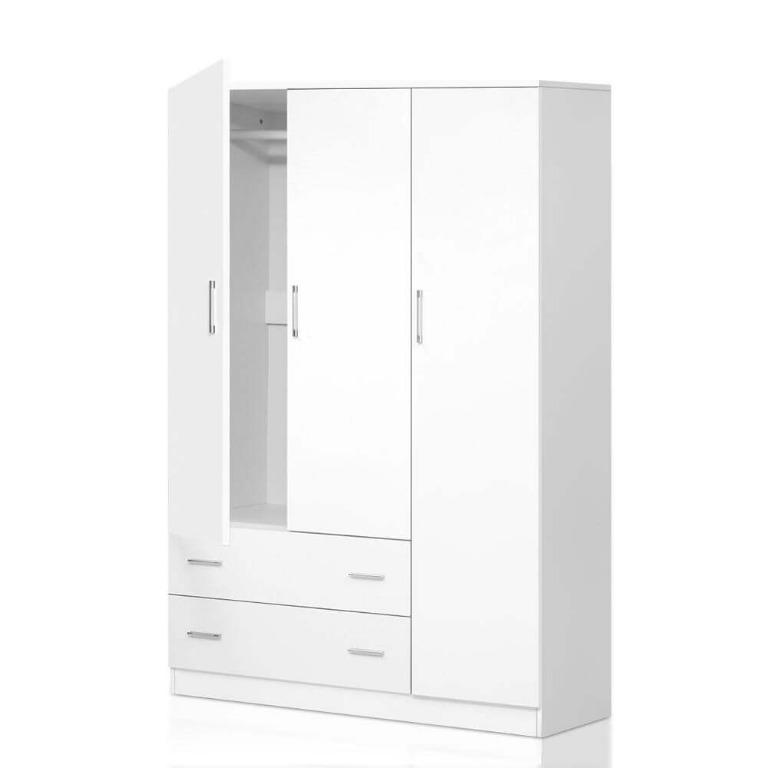 Artiss 3 Doors Wardrobe Bedroom Closet Storage Cabinet Organiser Armoire 170cm