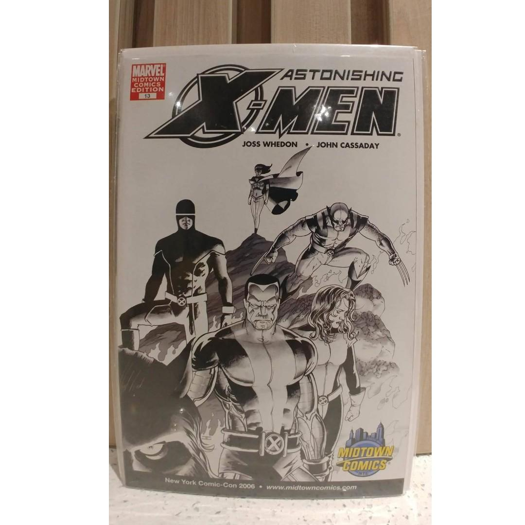 Astonishing X-Men (2004 3rd Series) # 13D MIDTOWN COMICS Variant Sketch Cover