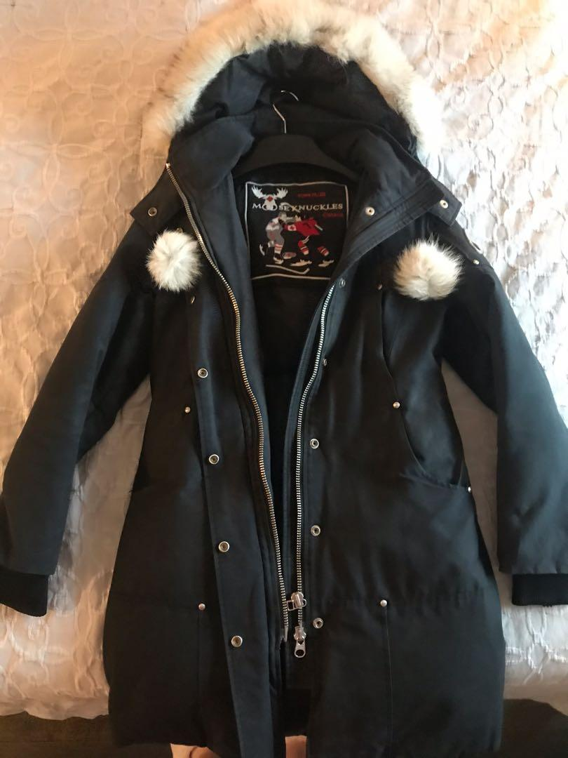 Authentic black Mooseknuckles parka (women size S)