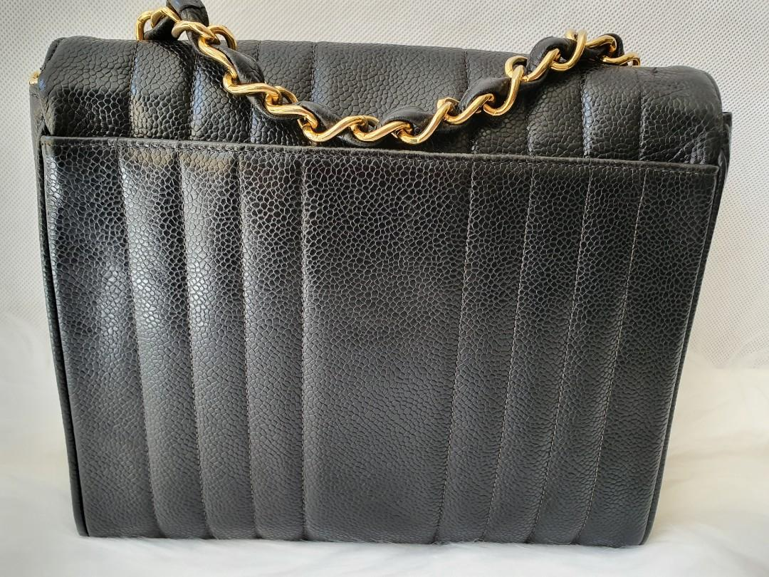 RARE DISCONTINUED Authentic Chanel caviar black bag