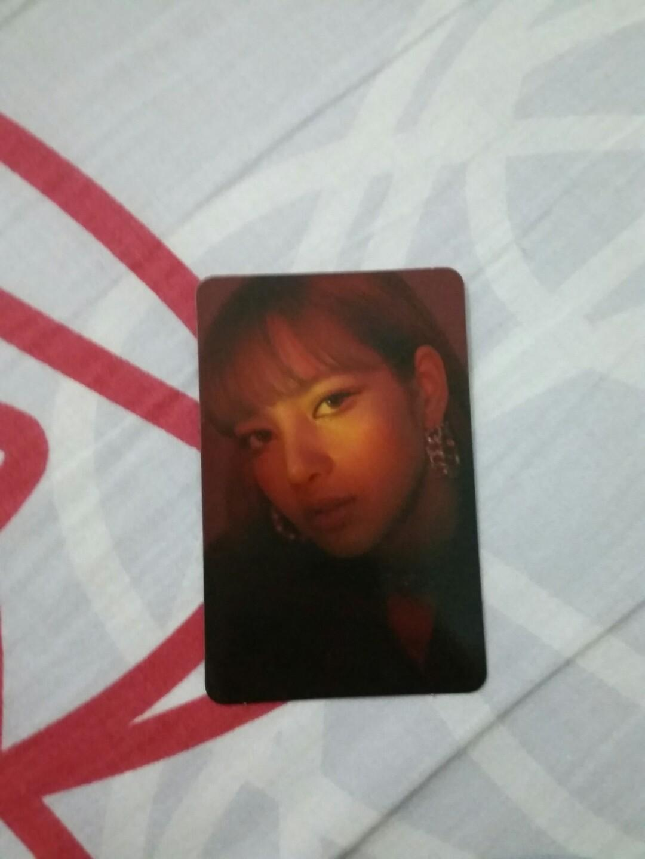 Blackpink Lisa Official Photocard from Square Up Album Black Version