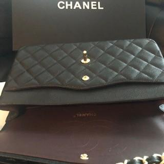 Chanel Black Quilted Caviar Jumbo Classic Double Flap