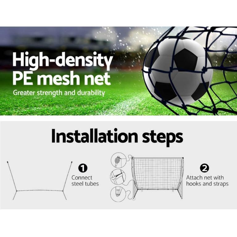 Everfit Portable Soccer Football Goal Net Kids Outdoor Training Sports 3.6M XL