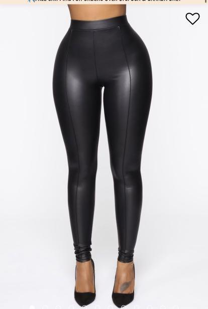 Fashion Nova faux leather leggings -XS - brand new