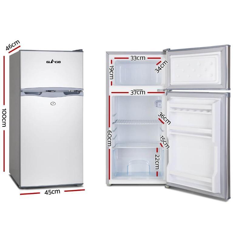 Glacio 100L Portable Bar Fridge Freezer Cooler 12V/24V/240V Caravan